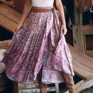 Dresses & Skirts - pink white Boho gypsy Floral Print Maxi Skirt